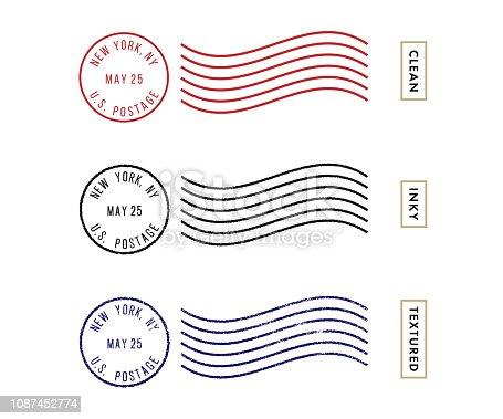istock Postage Stamp Set (Live Stroke Path) 1087452774