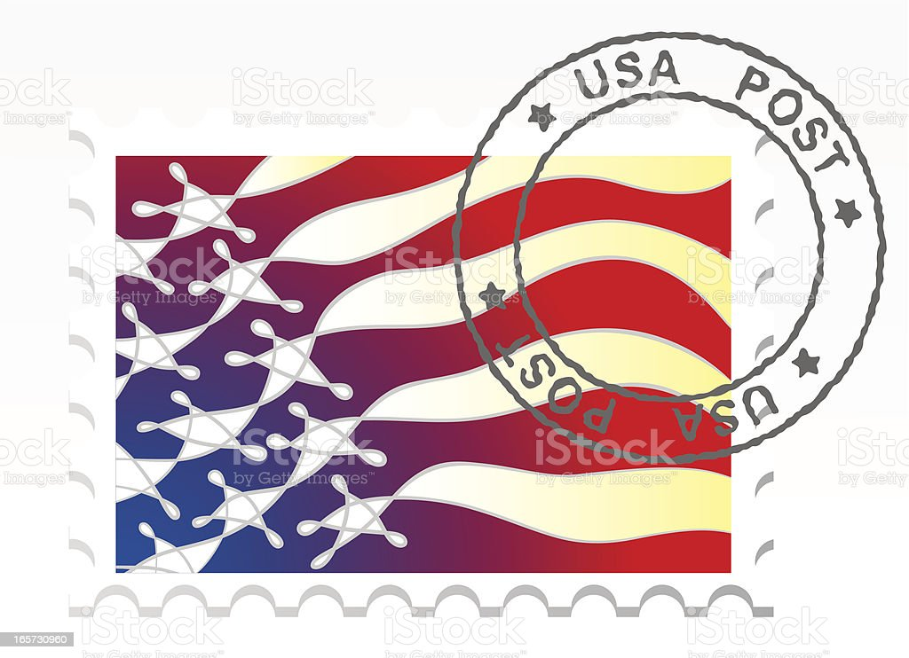 Postage Stamp royalty-free stock vector art