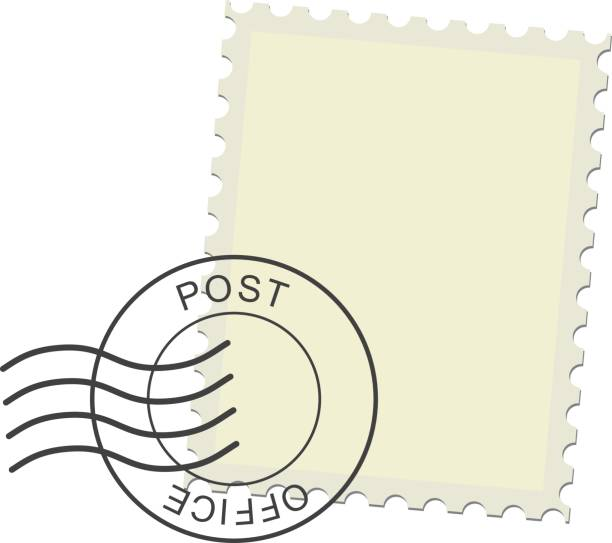 Postage Stamp Postage stamp and postmark. Realistic isolated vector illustration on white background. postmark stock illustrations