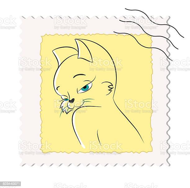 Postage stamp with a picture of a cat vector id523440071?b=1&k=6&m=523440071&s=612x612&h=b33432hqqfjn6psqnun71gpoxsmigizusfcjtbwxey4=