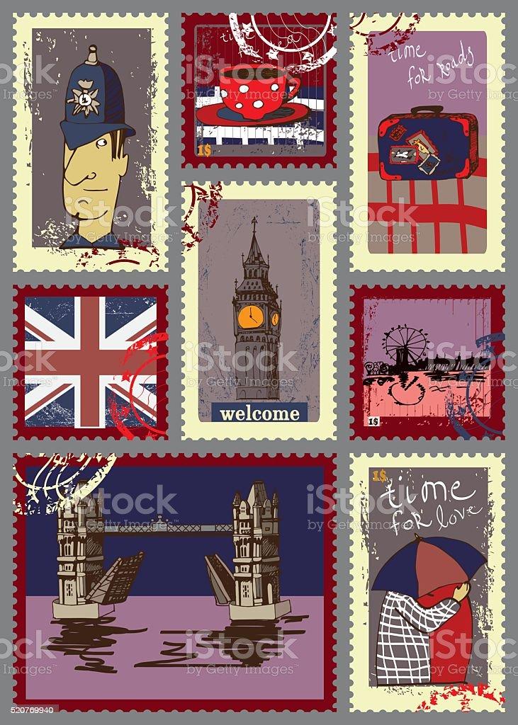 Открытка в англию, сделать открытку