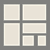 Postage stamps template