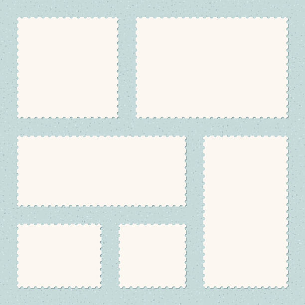 Postage Stamps Templates vector art illustration