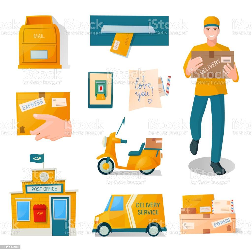 Ilustraci n de entrega de servicio r pido gratis postal de for Telefono oficina de correos
