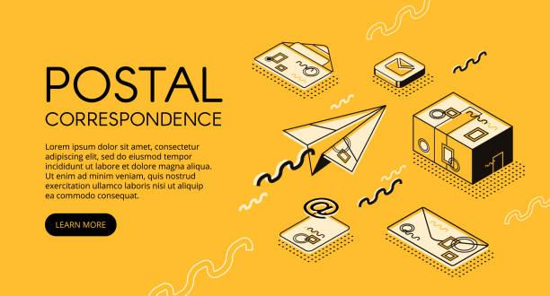 Postal mail correspondence vector illustration vector art illustration