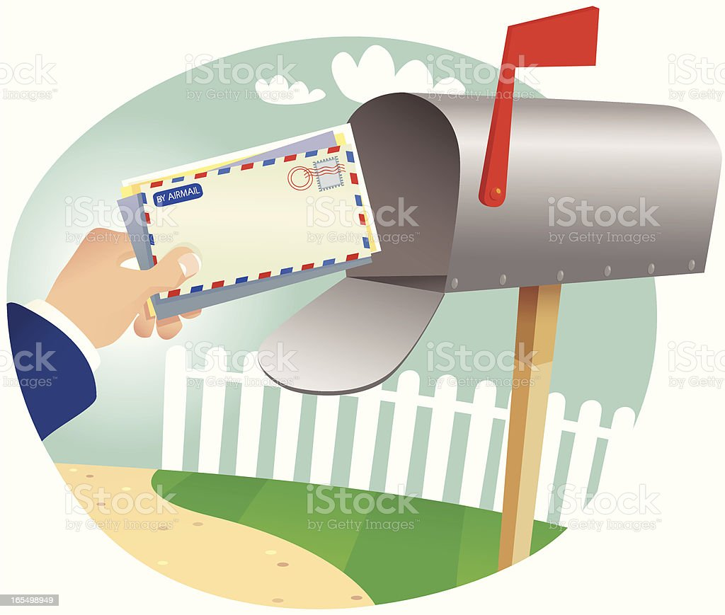 Postal service and mailbox royalty-free stock vector art