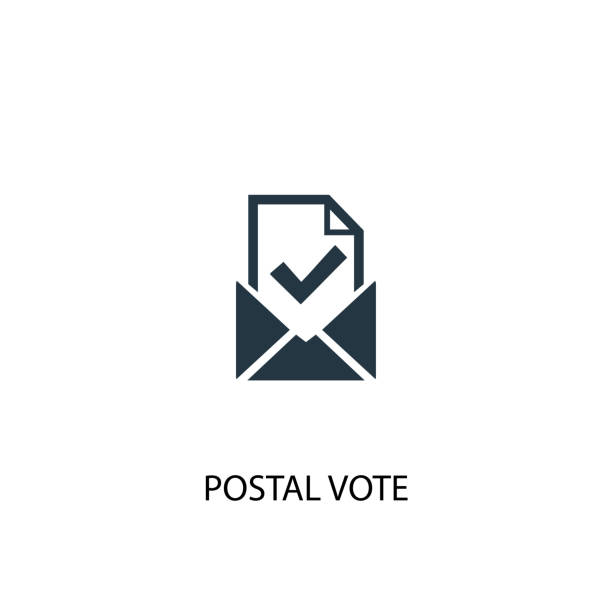 postal vote icon. simple element illustration - ballot stock illustrations