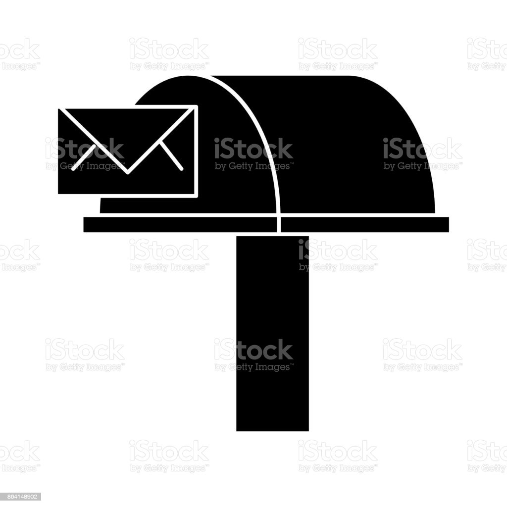 postbox, email delivery  icon, vector illustration, sign on isolated background royalty-free postbox email delivery icon vector illustration sign on isolated background stock vector art & more images of 3d printing