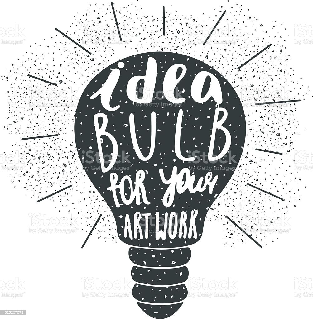 はがきの背景アイデア電球と汚れた質感 のイラスト素材 525207572 | istock