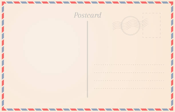 postcard design illustration - postcard stock illustrations