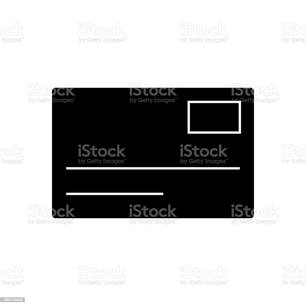 postcard, email  icon, vector illustration, sign on isolated background royalty-free postcard email icon vector illustration sign on isolated background stock vector art & more images of address book