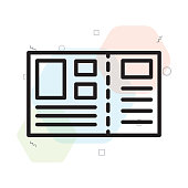 Postcard icon vector sign and symbol isolated on white background, Postcard logo concept