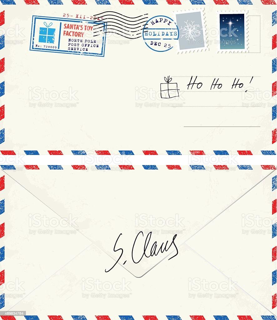 Postcard lettero from Santa vector art illustration
