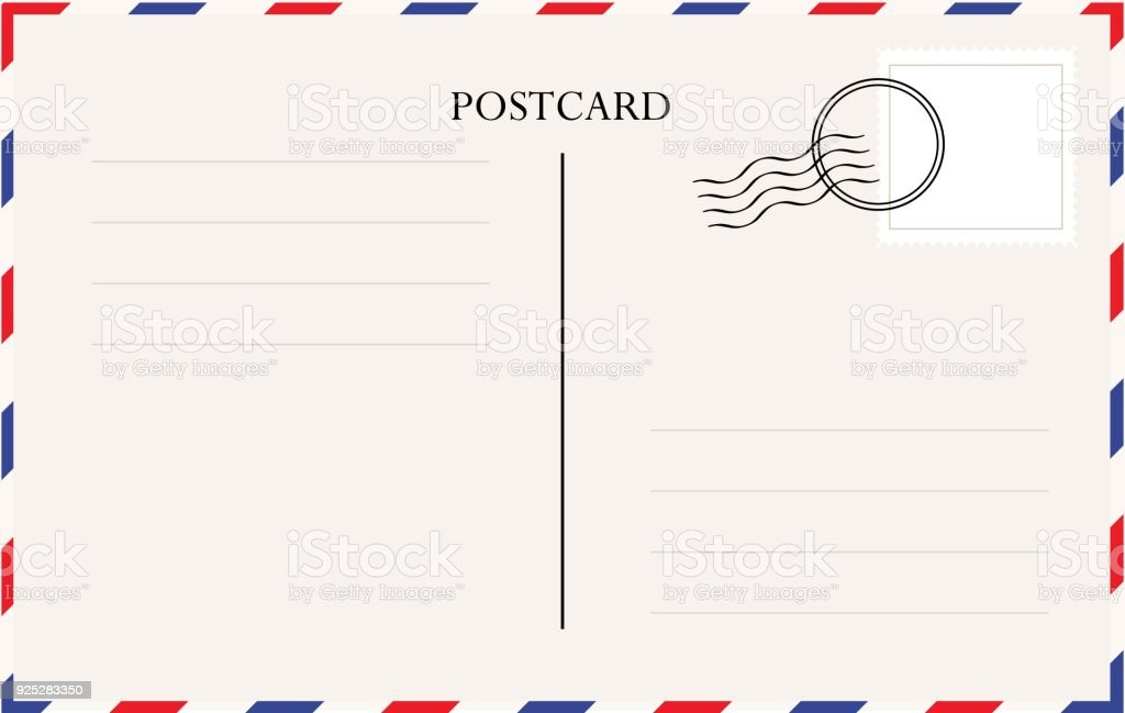 Postkarte Vorlage Vektor Stock Vektor Art und mehr Bilder von Alt ...