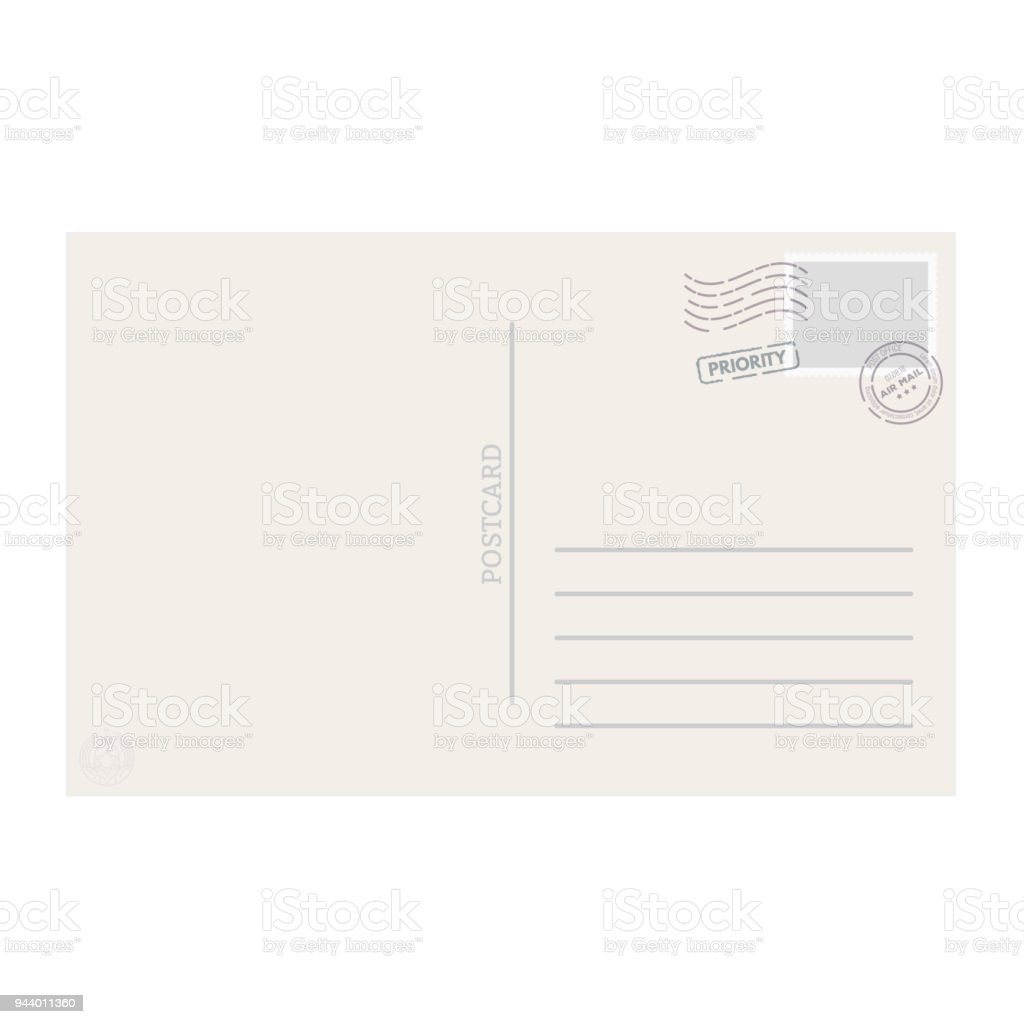 Postkarte Vorlage Vektor Stock Vektor Art und mehr Bilder von ...