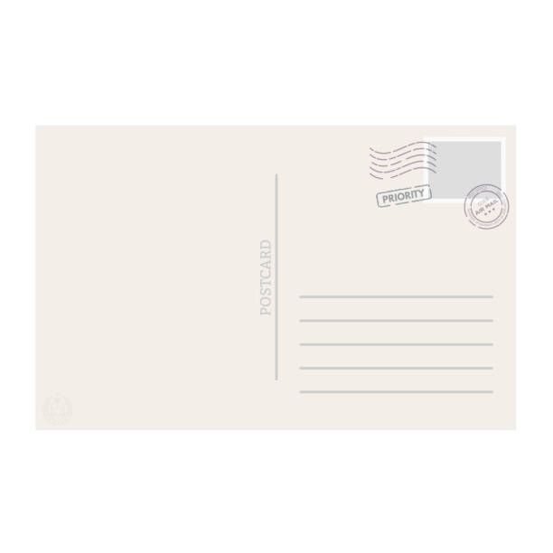 postcard template vector - postcard stock illustrations