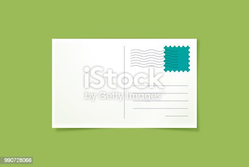 Travel vacation postcard template with space for copy.