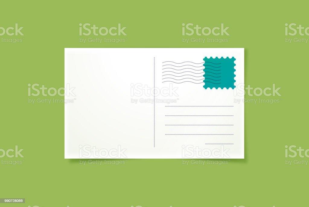 Postcard vector art illustration
