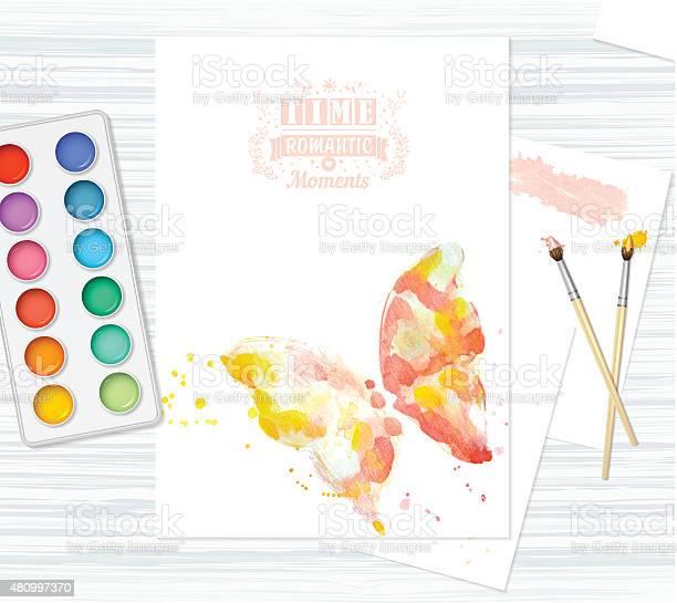 Postcard with beautiful watercolor butterfly vector id480997370?b=1&k=6&m=480997370&s=612x612&h= 9y60kkyggnuga9rgl3gcvjwiyitcicycvl8t6qedgu=