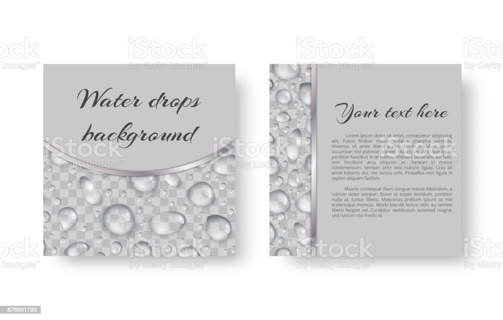 Postcard with droplets vector art illustration