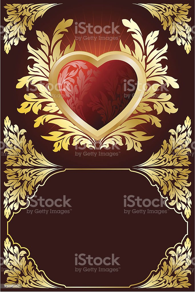 Postcard with Heart royalty-free postcard with heart stock vector art & more images of branch - plant part