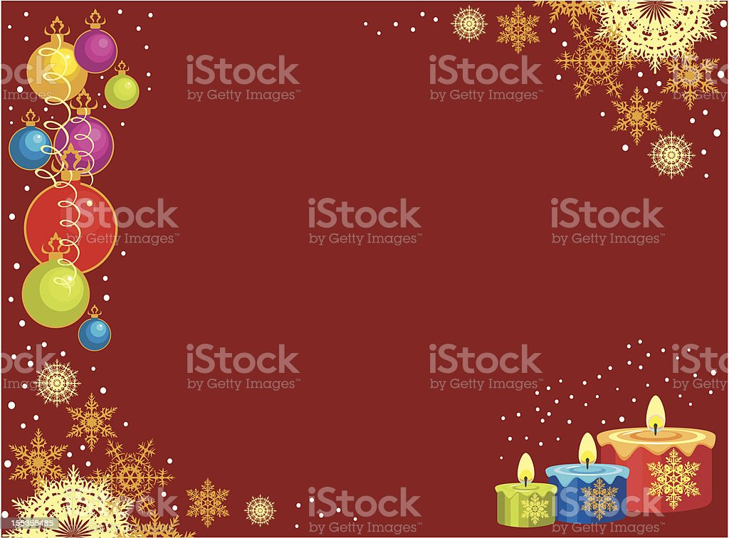 postcard with xmas candles royalty-free stock vector art