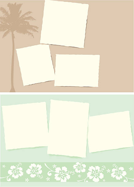 Postcards from Paradise vector art illustration