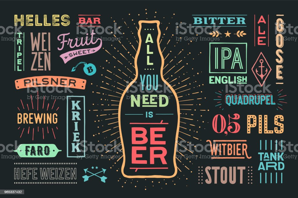 Poster All You Nees Is Beer royalty-free poster all you nees is beer stock vector art & more images of alcohol
