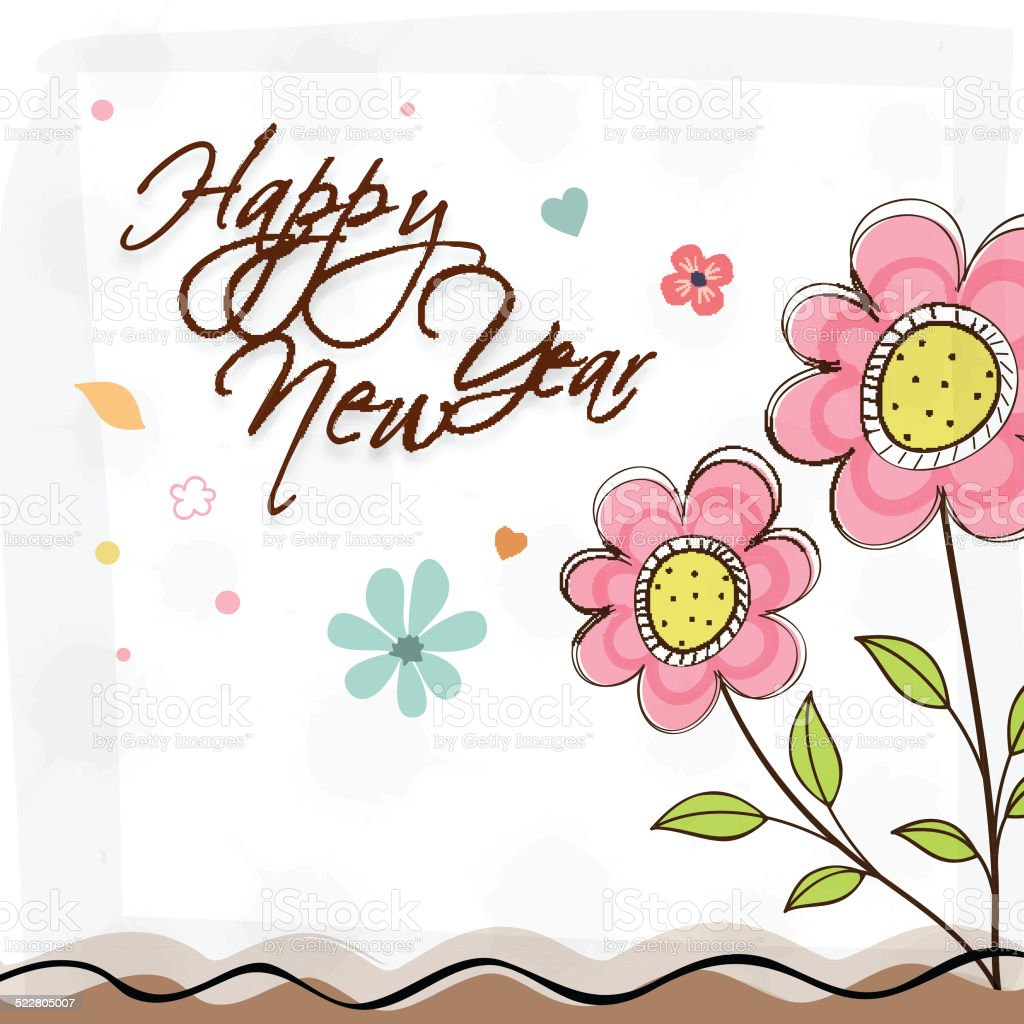 poster banner greeting card or flyer of happy new year royalty free