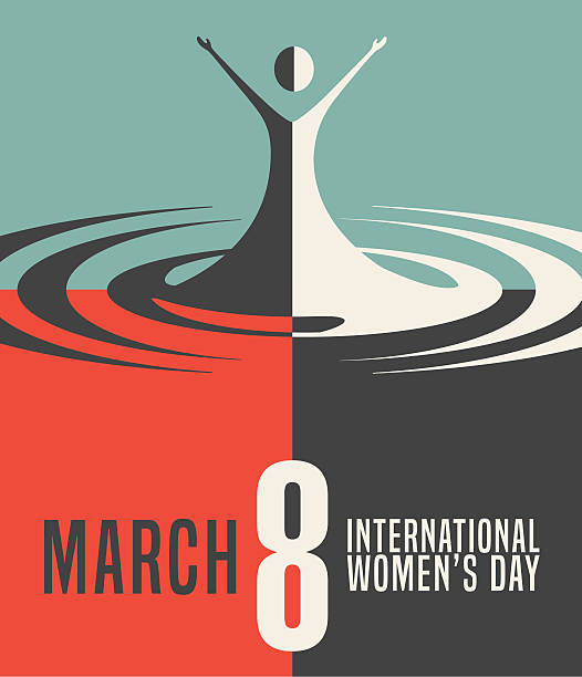 poster, banner or card for international women's day, march 8th - international womens day stock illustrations, clip art, cartoons, & icons