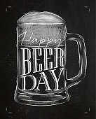 Poster beer day chalk