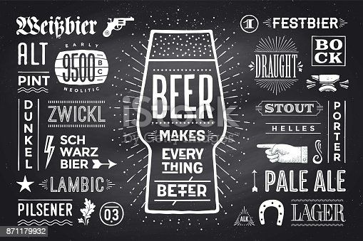 istock Poster Beer Makes Everything Better 871179932
