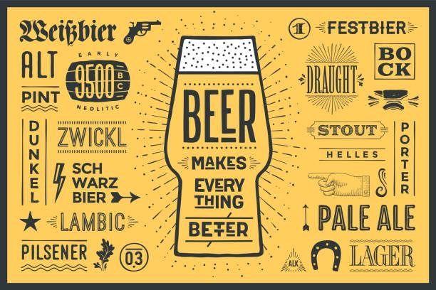 ポスター ビールはすべてより良い - ランチョンマット点のイラスト素材/クリップアート素材/マンガ素材/アイコン素材