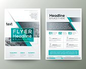 Poster Brochure Flyer design Layout vector template
