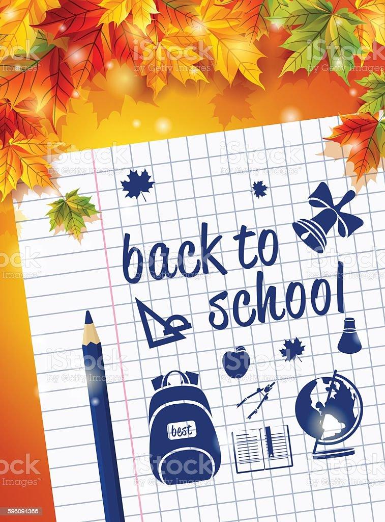 Poster by September 1 sheet of notebook drawing Caranda Lizenzfreies poster by september 1 sheet of notebook drawing caranda stock vektor art und mehr bilder von accessoires