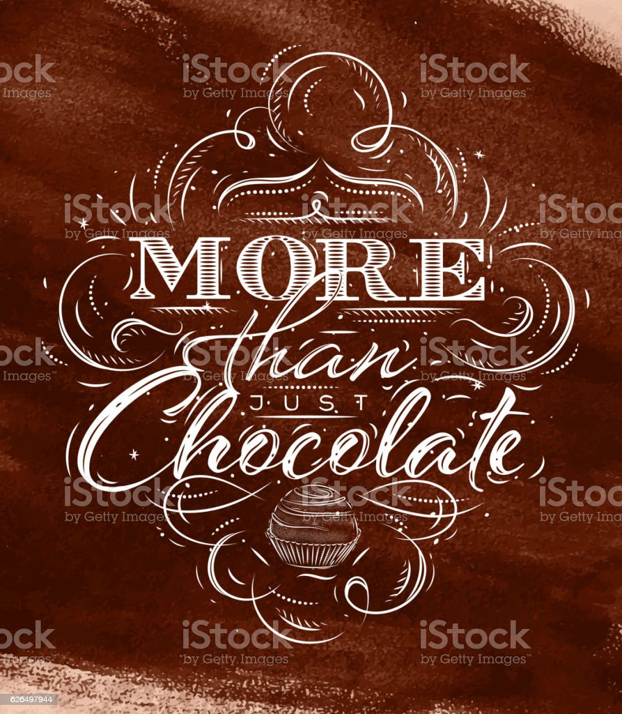 Poster chocolate brown vector art illustration