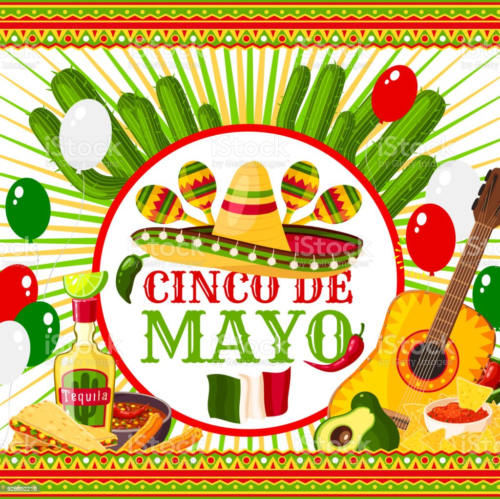 Poster Cinco de Mayo vector art illustration