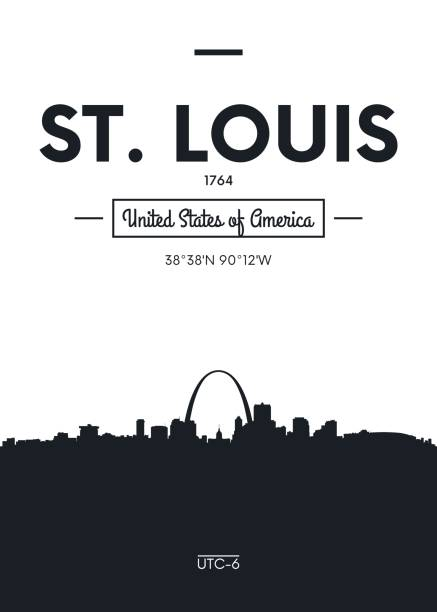 海報城市天際線聖路易斯向量例證 - st louis 幅插畫檔、美工圖案、卡通及圖標