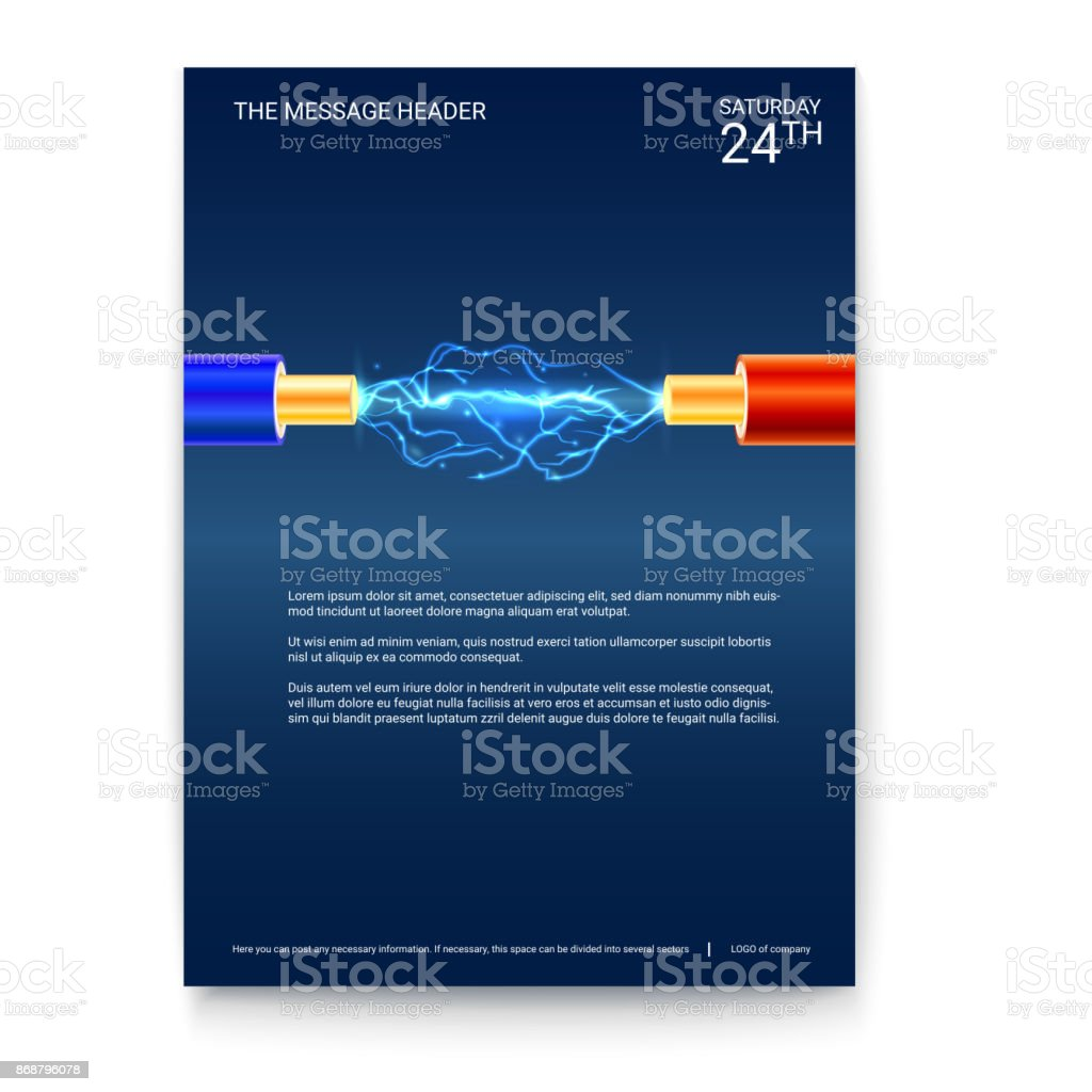 Farbige Elektrokabel plakatgestaltung funken elektrokabel mit kupfer elektrokabel in