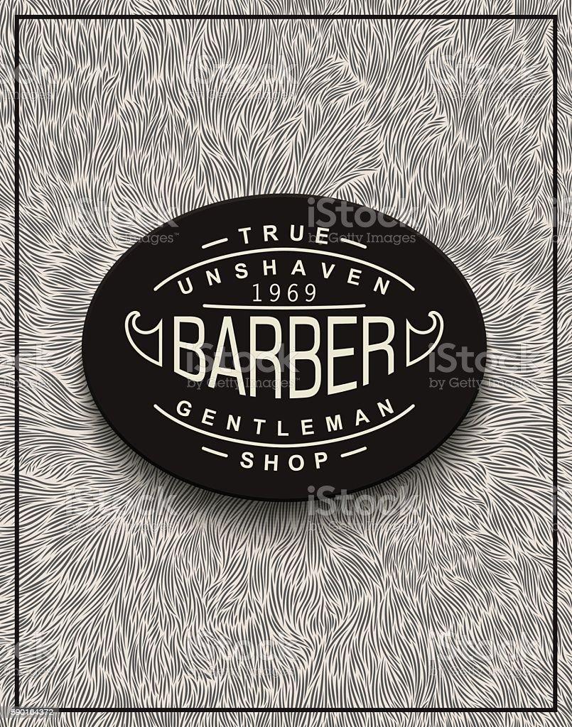 Poster design for Barbershop - ilustração de arte em vetor