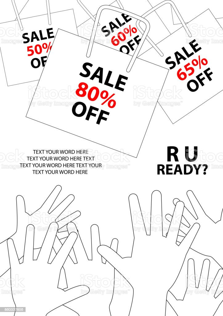 Poster Design For Sale Event In Simple Style With Space Texting Your Word Background