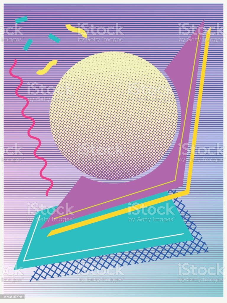 poster design of geometric shapes. vector art illustration
