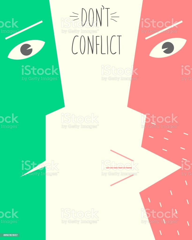 Poster does not conflict vector art illustration