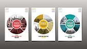 Poster , Flyer Template, Circle Abstact Background