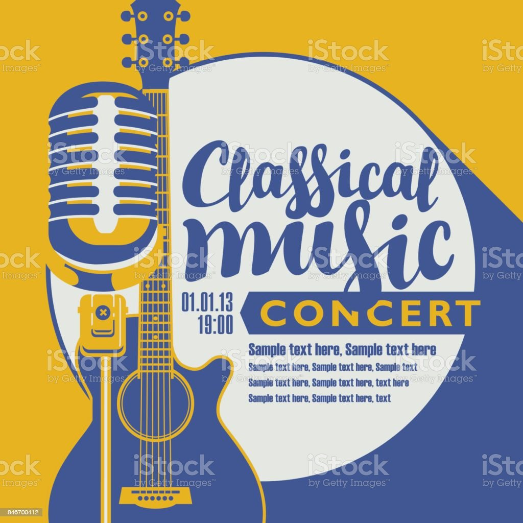 poster for a concert of classical music vector art illustration