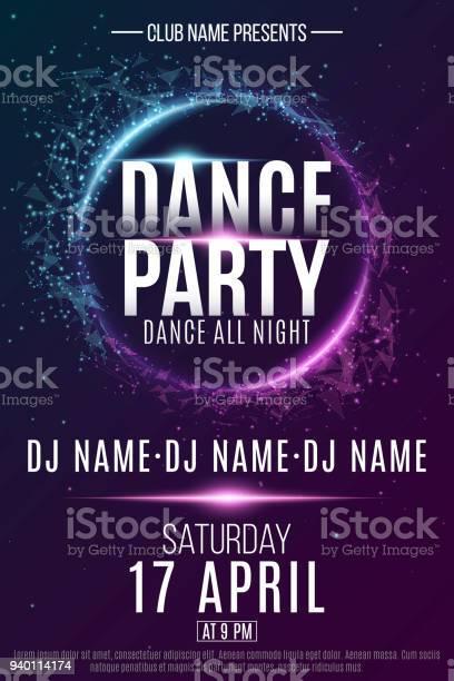 Poster for a dance party night party festive geometric neon flyer vector id940114174?b=1&k=6&m=940114174&s=612x612&h=ulkqc7nfxxekmrrmemx0q2thujdrpe wsmwq1soxfg8=