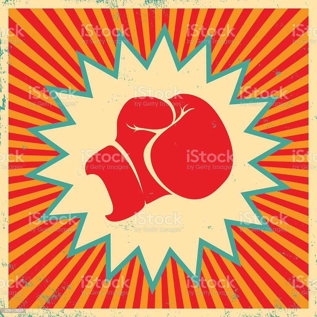 Poster for boxing vector art illustration