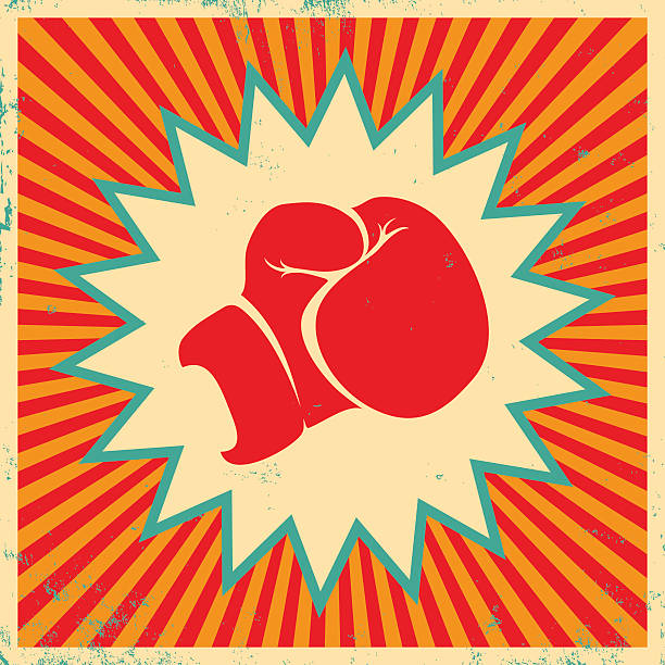 stockillustraties, clipart, cartoons en iconen met poster for boxing - knock out