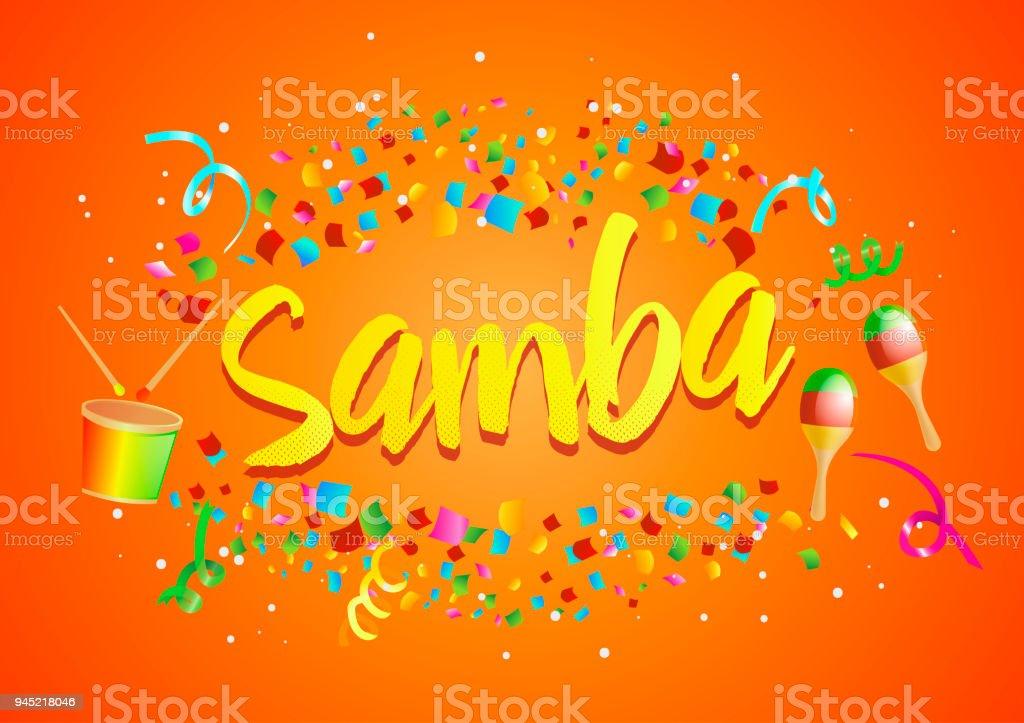 Poster For Brazil Dance Samba On Carnival In Rio Confetti Around The