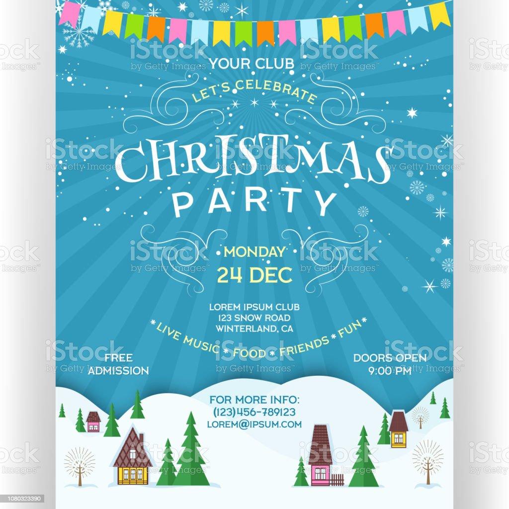 Weihnachtsfeier Plakat.Plakat Zur Weihnachtsfeier Stock Vektor Art Und Mehr Bilder Von